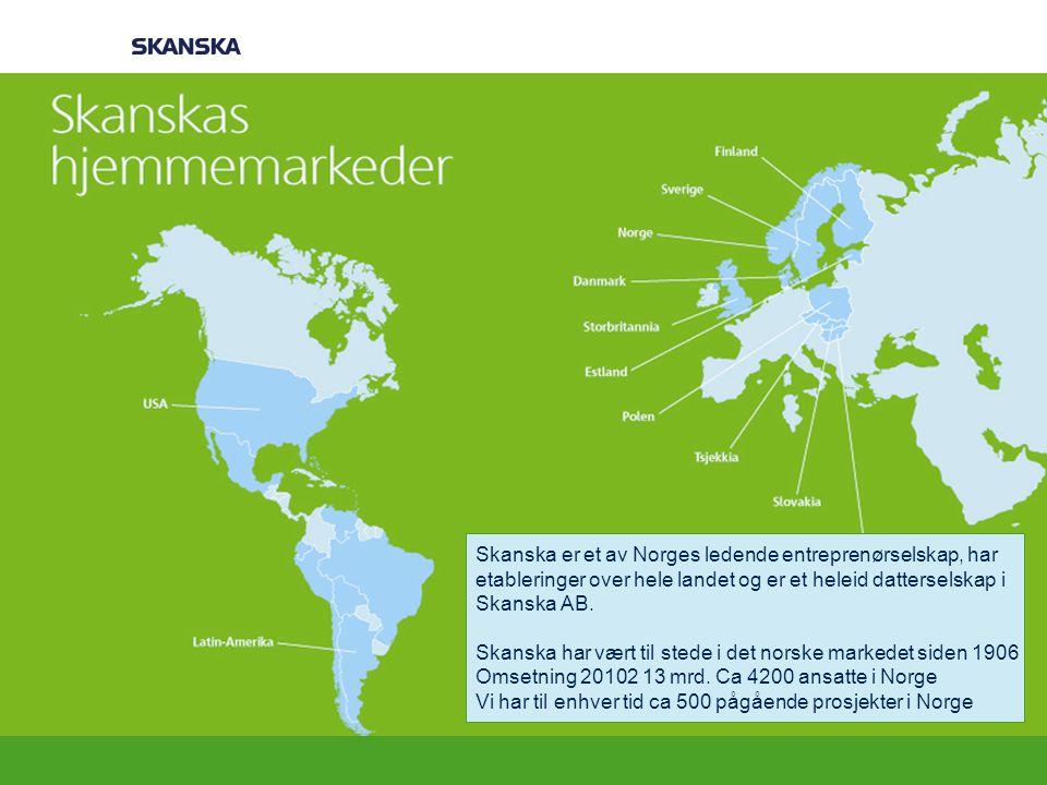Korte fakta om Skanska Kort presentasjon av Skanska. [Dette kan du] Det var kort om Skanska. Nå over til temaet for i dag.